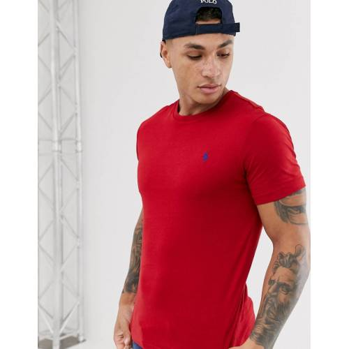 Polo Ralph Lauren – T-Shirt mit Polospielerlogo in Rot