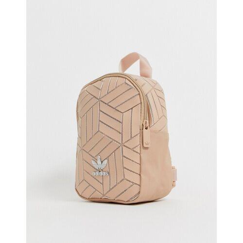adidas Originals – Mini-Rucksack in Creme mit geometrischem 3D-Muster