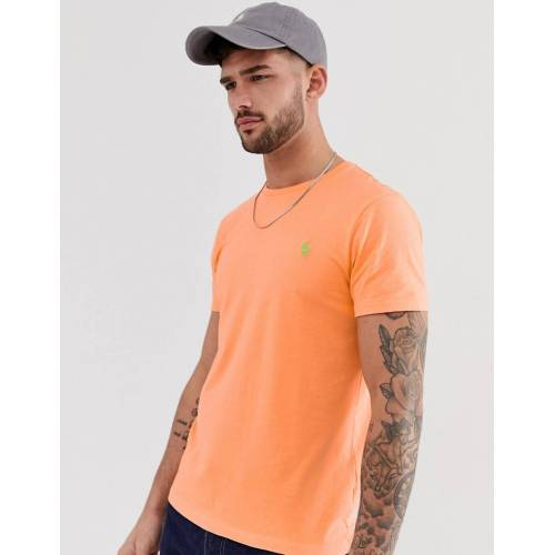 Polo Ralph Lauren – T-Shirt in Orange mit Polospieler-Logo