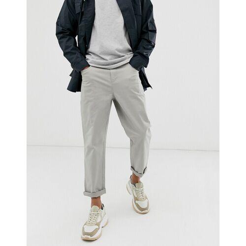 ASOS WHITE – Schmal zulaufende Hose aus schwerem Jerseystoff mit kurzem Schnitt