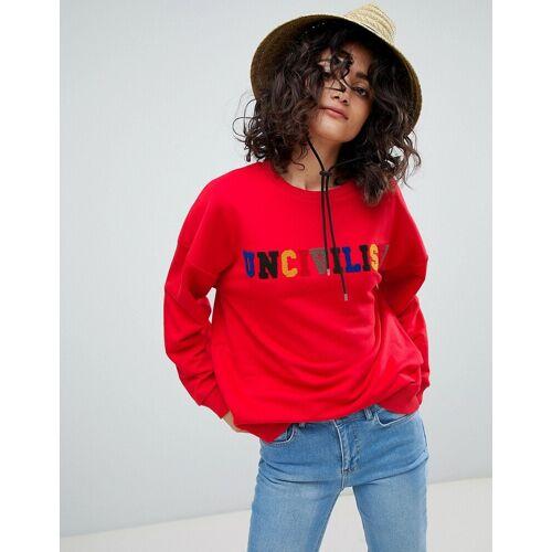 Uncivilised – Frottee-Sweatshirt mit Regenbogen-Logo