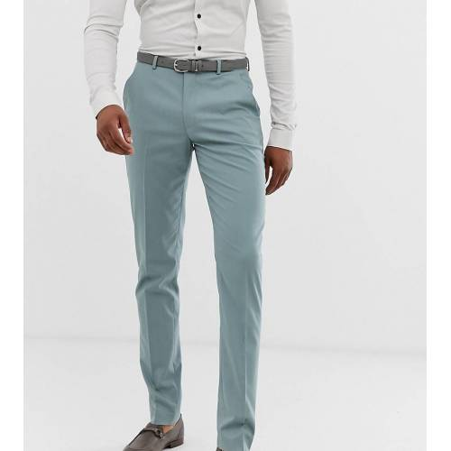 ASOS DESIGN Tall – Enge Anzughose in Pastellblau