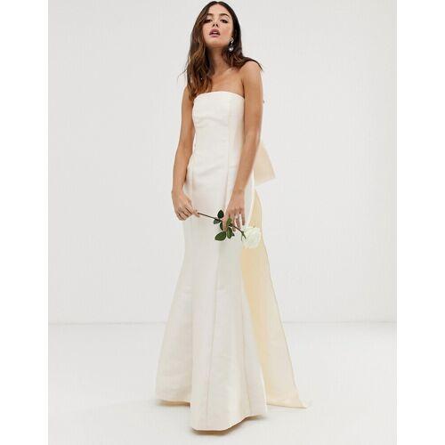 ASOS EDITION – Trägerloses Hochzeitskleid mit Schleife hinten-Weiß 36