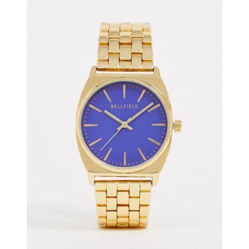 Bellfield – Damen-Armbanduhr mit blauem Ziffernblatt-Gold One Size
