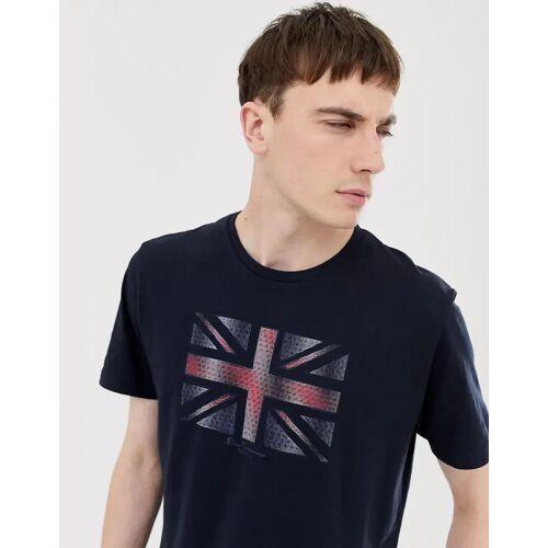 Ben Sherman – T-Shirt mit Flaggenmotiv-Navy