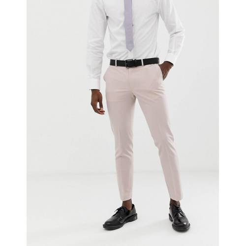 Burton Menswear – Enge Hochzeitsanzug-Hose in Rosa W30 L30