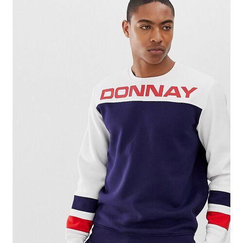 Donnay – Sweatshirt mit angesetzten Stoffbahnen-Navy XS