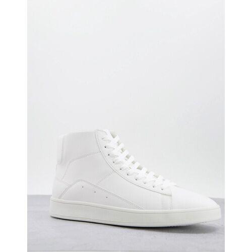 New Look – Knöchelhohe Sneaker in Grau-Weiß 44