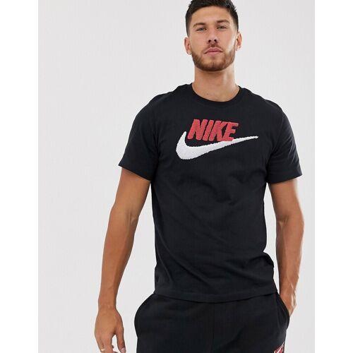 Nike – Marken-T-Shirt in Schwarz