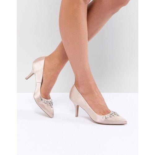 QUPID – Spitze Heels mit Verzierung (Brautschuhe)-Beige