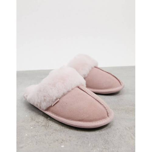 Sheepskin by Totes – Hausschuhe in Rosépink-Rosa 36-37