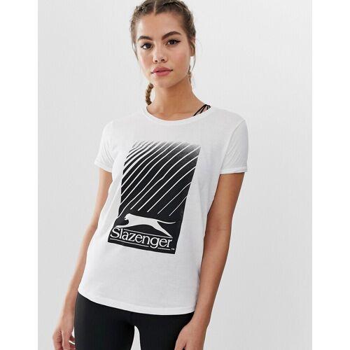Slazenger – Blair – Weißes T-Shirt 44