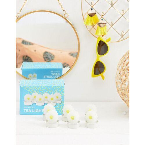 Sunnylife ‒ Daisy-Teelichte im 6er-Pack-Weiß