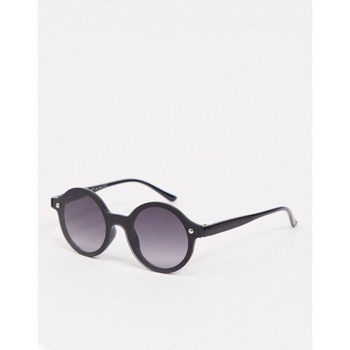 AJ Morgan – Runde, randlose Sonnenbrille in Schwarz No Size