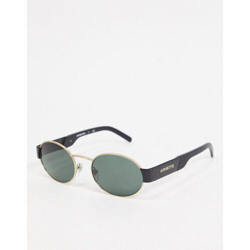 Arnette – Runde Sonnenbrille in Schwarz/Gold, 0AN3081 No Size