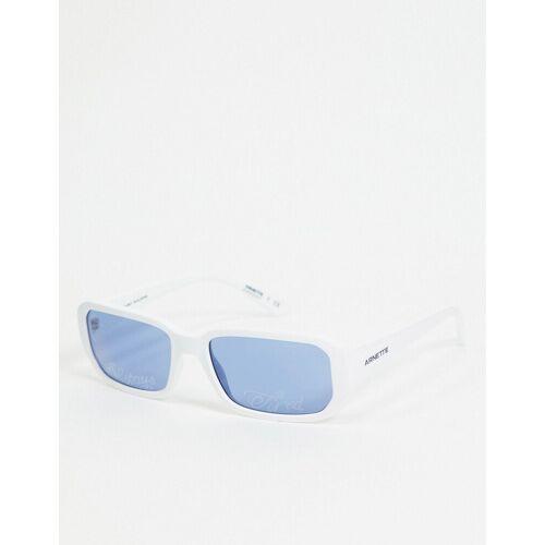 Arnette x Post Malone – Weiße, eckige Sonnenbrille No Size