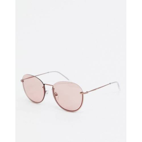 DKNY – Concrete Jungle – Runde Sonnenbrille-Rosa No Size