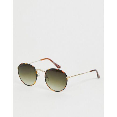 Monki – Runde Sonnenbrille in Schildpatt-Braun No Size