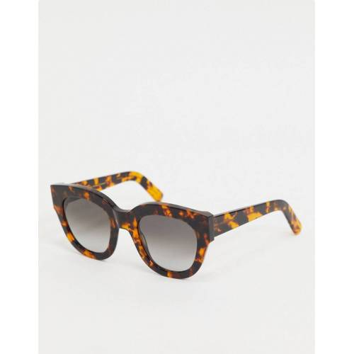 Monokel Eyewear Monokel – Cleo – Oversized-Cat-Eye-Sonnenbrille in Havanna-Braun No Size