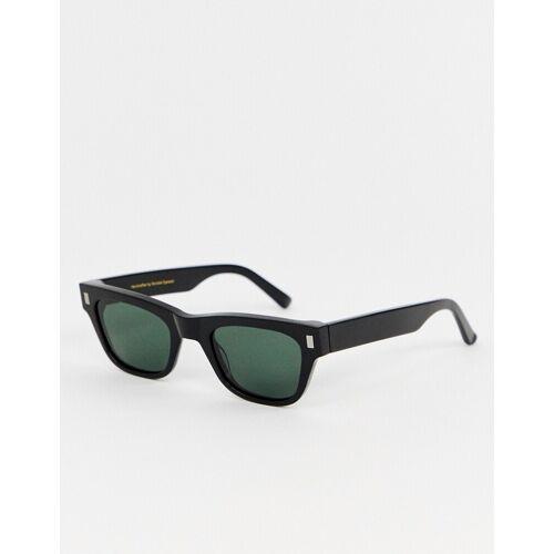 Monokel Eyewear – Aki – Schwarze, viereckkige Sonnenbrille No Size