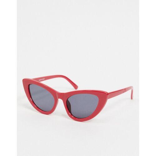 Noisy May – Katzenaugen-Sonnenbrille in Rot Einheitsgröße