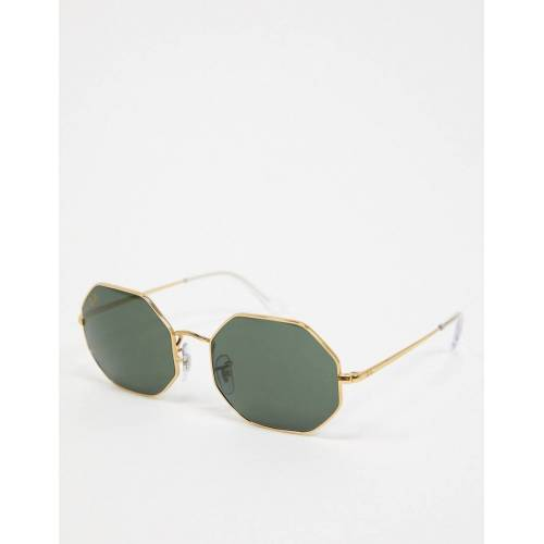Ray-ban – Achteckige Sonnenbrille in Gold, ORB1973 No Size