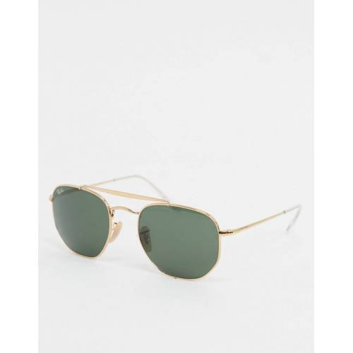 Ray-ban – Sechseckige Sonnenbrille in Gold, ORB3648 No Size