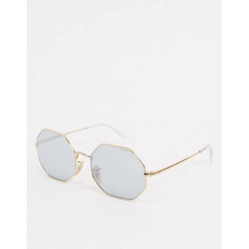 Ray-Ban Rayban – 0RB1972 – Achteckige Sonnenbrille in Gold No Size