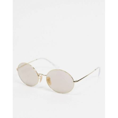 Ray-Ban Rayban – Ovale Sonnenbrille in Gold, 0RB1971 No Size