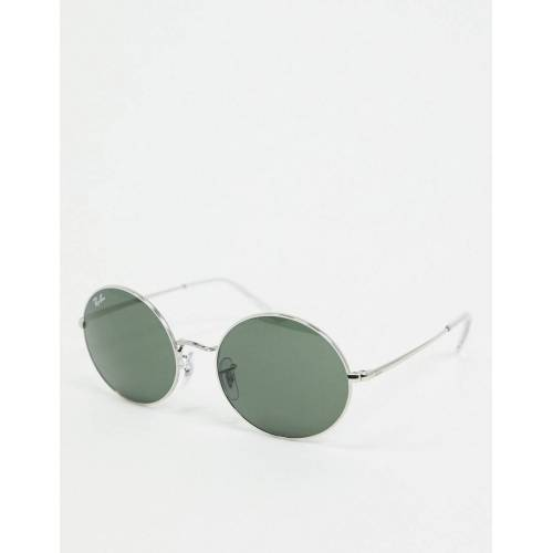 Ray-Ban Rayban – Ovale Sonnenbrille in Silber No Size