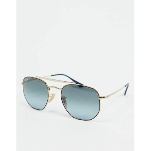 Ray-Ban Rayban – Schmale Piloten-Sonnenbrille in Gold No Size