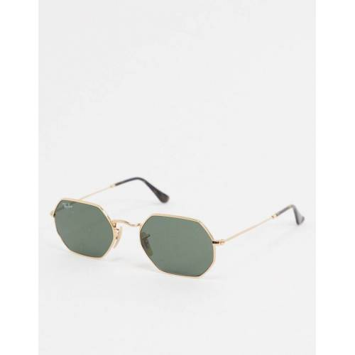 Ray-Ban Rayban – Sechseckige Sonnenbrille in Gold No Size
