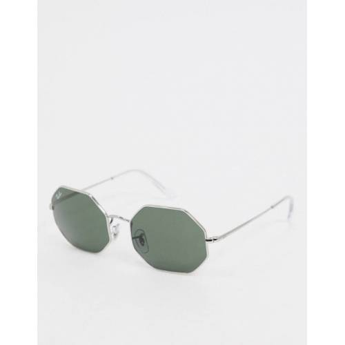 Ray-Ban Rayban – Sechseckige Sonnenbrille in Silber No Size