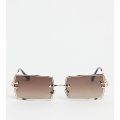 South Beach – Rahmenlose Sonnenbrille mit braunen Gläsern-Gold No Size