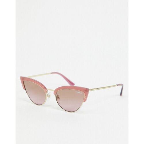 Vogue – Rote Cat-Eye-Sonnenbrille No Size
