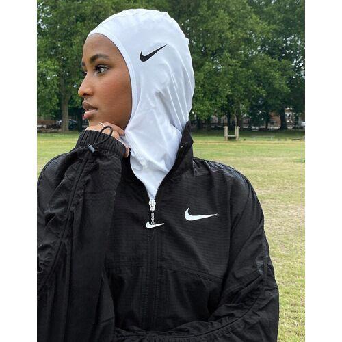 Nike – Pro Training – Hijab in Weiß, 2,0 M/L