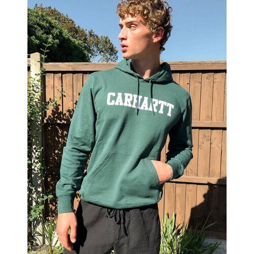 Carhartt WIP – Tannengrüner College-Kapuzenpullover S