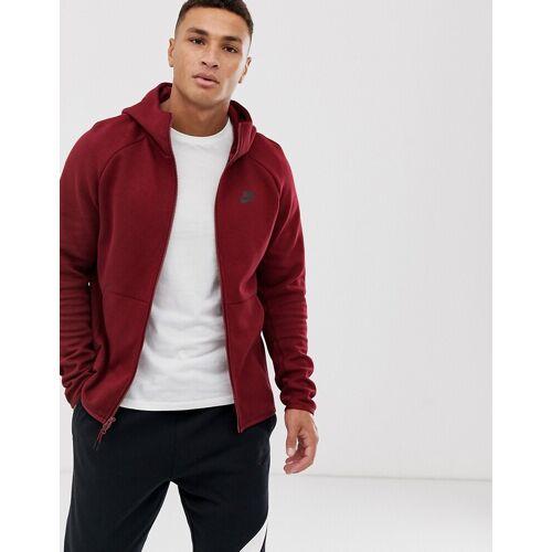 Nike Tech – Bordeauxroter Kapuzenpullover aus Fleece 2XL