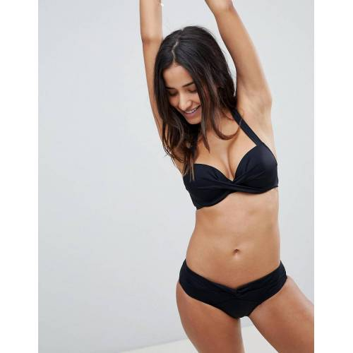 Dorina – Kurze Bikinihose in Schwarz 36