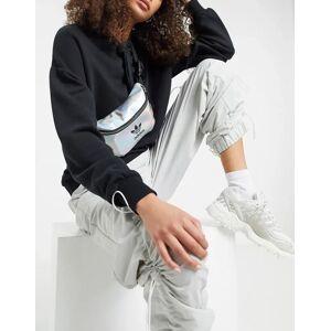 adidas Originals – Gürteltasche mit Dreiblattlogo in Silber-Metallic No Size