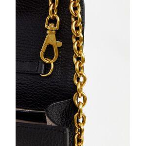 Valentino by Mario Valentino – Chicago – Umhängetasche aus Leder mit Kettenriemen in Schwarz No Size