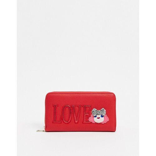 Love Moschino – Geldbörse mit Lovo-Logo in Rot No Size