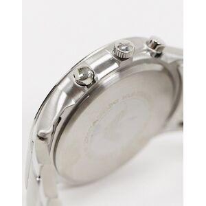 Emporio Armani – Silberne Armbanduhr mit blauem Zifferblatt, AR2448 No Size