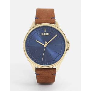 HUGO – 1530134 – Uhr mit Lederarmband in Braun No Size