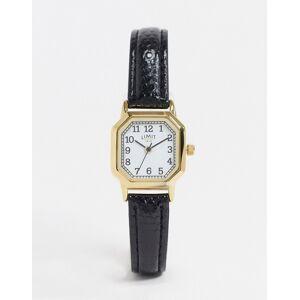 Limit – Achteckige Uhr mit Kunstlederarmband in Schwarz No Size