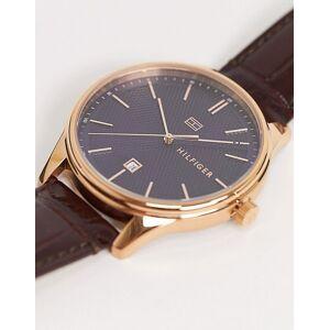 Tommy Hilfiger – Damon – Armbanduhr mit blauem Zifferblatt-Braun No Size