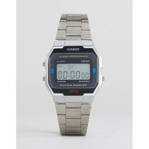 Casio – A163WA-1QES – Digitale Armbanduhr in Silber No Size