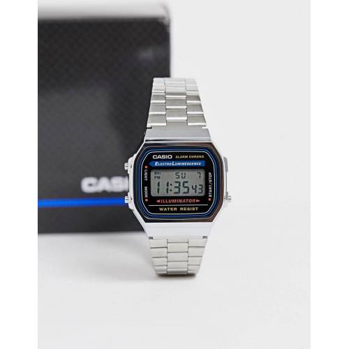 Casio – A168WA-1YES – Digitale Armbanduhr-Silber No Size