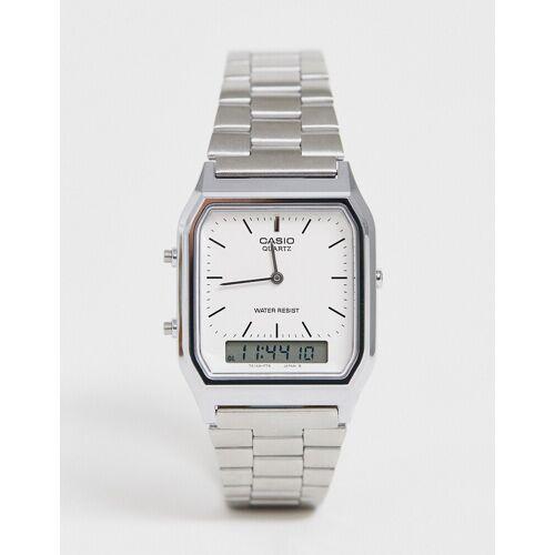 Casio – AQ-230A-7DMQ – Digitale Armbanduhr-Silber No Size