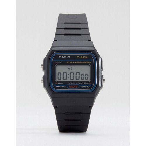 Casio – F-91W-1XY – Klassische, digitale Armbanduhr-Schwarz No Size